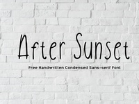 After Sunset - Free Handwritten Sans Serif Font
