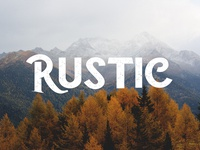 Rustic - Free Vintage Style Font