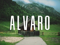 Alvaro - Free font family with clean condensed style