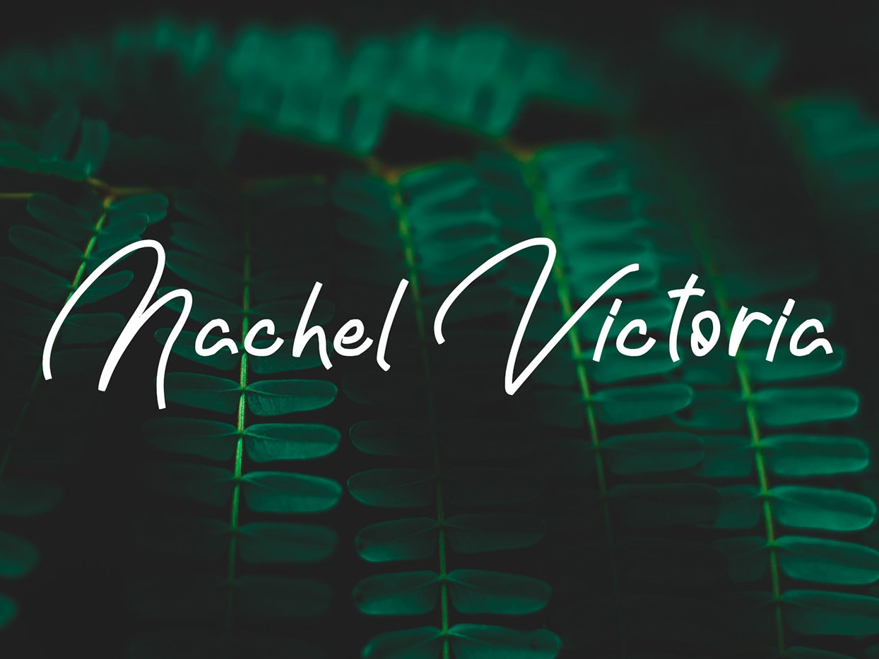 Nachel Victoria - Free simple font by Juan Trigusto on Dribbble