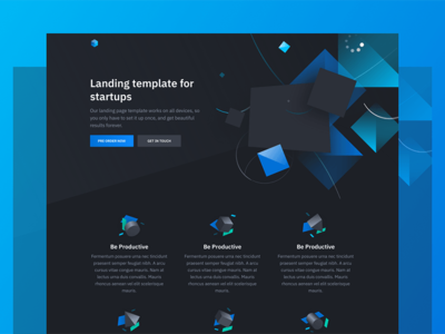 Solid: Free HTML template with 3D illustrations