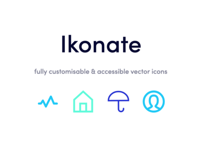 Ikonate : Free customisable of 230+ SVG icons