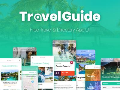 Free Travel Guide App UI Template