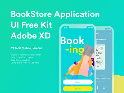 Bookstore Application Free UI Kit