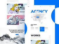 Free Agency Homepage Template