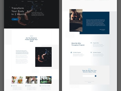 Free Gym Workout Website Template
