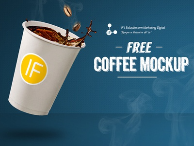 Free Realistic Coffee Cup Mockup