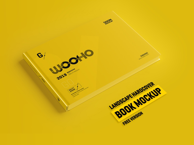 Free Horizontal Hardcover Book Mockup book mockup book mockup psd mockup design freebies freebie