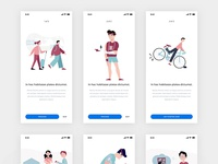 Free Flat Mobile App Illustrations