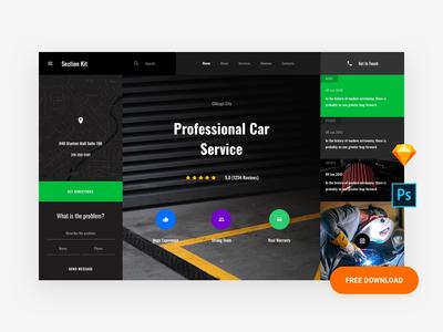 Free Mechanic Website Template
