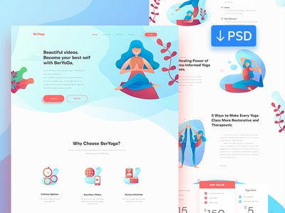 Free Yoga Website Template