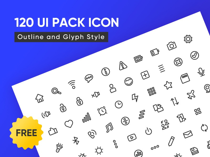 120 Free UI Icons ux icons design icons pack icons set icons ui design branding freebies freebie