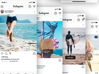 Free Instagram Feed And Profile Mockup