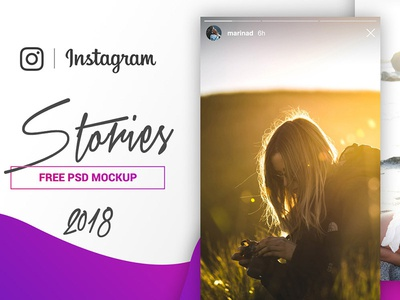 Instagram Stories Mockup Psd