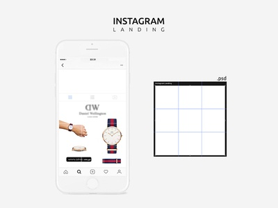 Free Instagram Mobile Mockup Psd Template