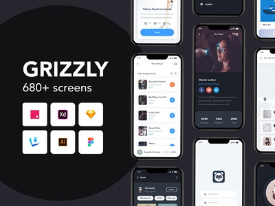 Grizzly - Free Mobile App UI Kit