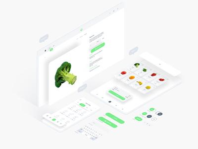 Free Food UI Kit For Adobe XD
