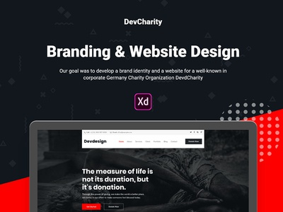 Free Charity Adobe XD Template