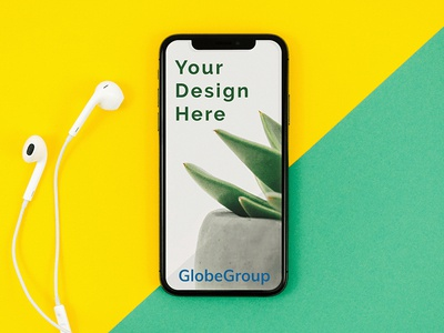 Free Clean iPhone Mockup PSD