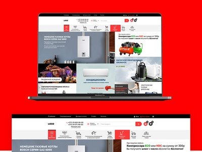 Free Clean E commerce Website Template