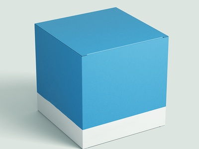 Free Square Packaging Box Mockup