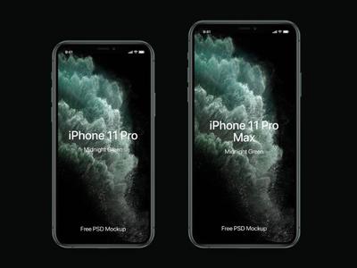Free iPhone 11 Pro Mockup Set free mockup iphone mockup iphone mockup design branding freebies freebie
