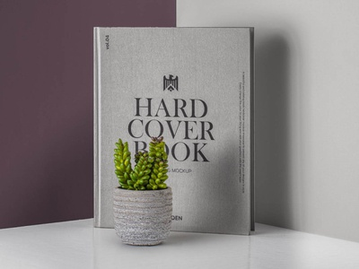 Free Realistic Hardcover Book Catalog Mockup