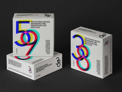 Free Square Boxes Packaging Mockup mockup design branding freebies freebie
