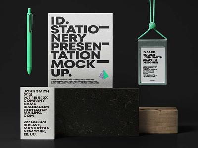 Free Branding Card Stationery Mockup mockup design branding freebies freebie