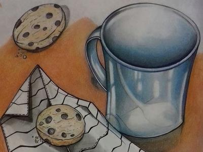 Tea and Cookie ilustracion