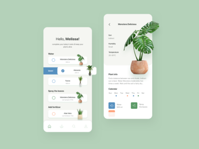Plant Care App - concept design