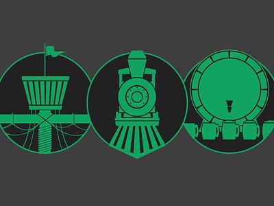 Boat Train Keg illustration