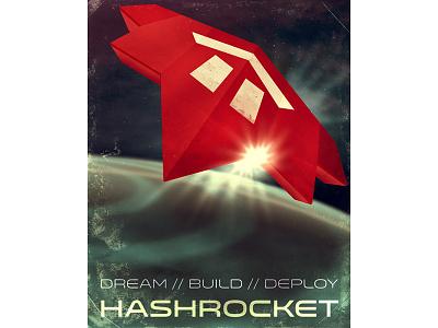 Ship hashrocket space poster