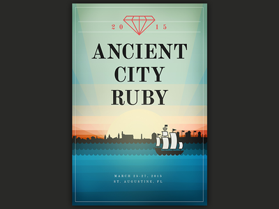 Ancient City Ruby 2015 Poster hashrocket poster