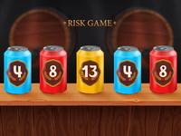 Risk Game - screen for slot game