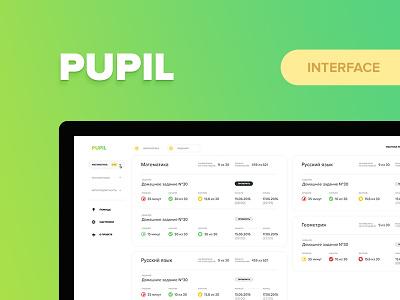 Pupil dashboard web site interface crm pupil school ux ui education