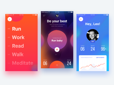 Do your best mobile activity colors ios profile manager task application app