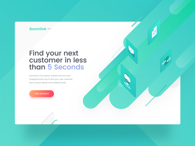 Boomlink 🔥🏄🚀 interface customer design web ux ui service promo landing