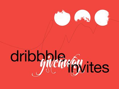 three dribbble invites ⚫️😎🥳 invite dribbble invitation dribbble invite design brutalism animation