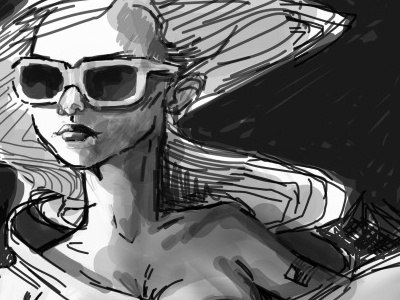 thumbed space gal  progress shots to follow