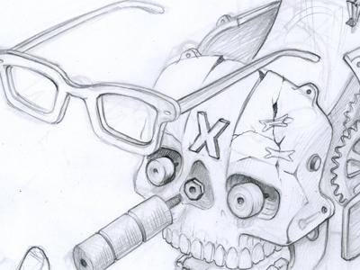 x head Dribble Sketch