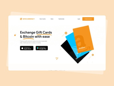 Landing page for Myecurrency web application designthinking typography ux web uidesign ui illustration design minimal uiuxdesign