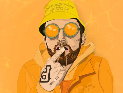 Mac Miller Illustration