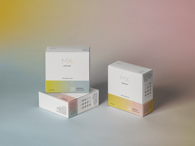 MX Packaging packaging design gradient period period products adobe photoshop mockup photoshop packaging branding adobe illustrator