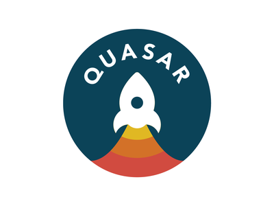 Quasar dailylogochallenge adobe illustrator branding space logo day1