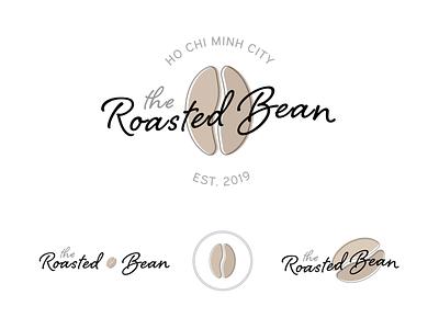 The Roasted Bean coffee bean coffee day 6 daily logo challenge logo dailylogochallenge branding adobe illustrator