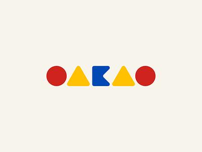 OAKAO clothing brand childrens oakao logo daily logo challenge dailylogochallenge branding adobe illustrator