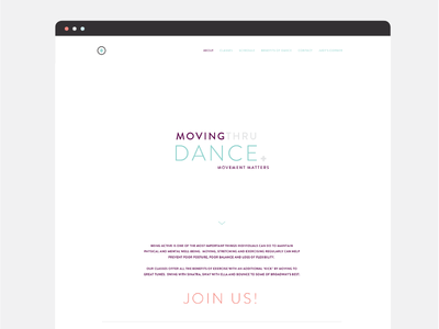 Movingthru Dance - web design 1