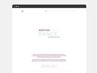 Movingthru Dance - web design 1