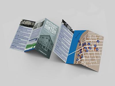 Historic Hinton Walking Tour Guide photograhy photoediting vector illustration design map design brochure design print design print branding graphic  design
